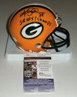 PACKERS Keith Jackson signed mini helmet w/SB XXXI Champs JSA COA AUTO Autograph