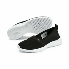 PUMA Womens Adelina Black/silver Walking Shoes Size 9 (821473)