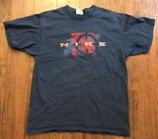 Vintage 1990's NIKE BEACH SAND VOLLEYBALL Dark Navy Blue T-Shirt Grey Tag