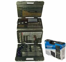 Silverline 204pc Drill Bit Set HSS Masonry Screwdriver Wood Hole Saw Bits 868762
