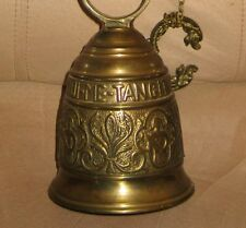 Vintage Spainish Solid Brass Bell-Ringing-with Angles