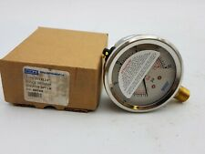 "WIKA 213.53 2.5"" 30PSI/Bar 1/4""NPT Lower Mount 9691990 Glycerin Filled Gauge NOS"