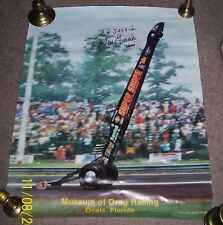 "DON GARLITS 1986 POSTER 22""X28"" AUTOGRAPHED NHRA"