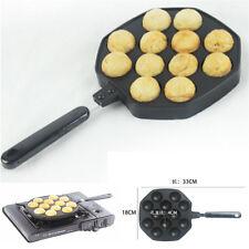 12 holes Takoyaki octopus grill tray mold pan PANCAKE PAN KP