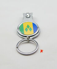 St.Vincent Flag Nail Clipper Cutter Key Ring