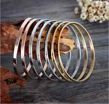 Titanium Steel Water ripples A set of Seven circles Womens Cuff Bangle Bracelet
