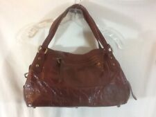 Cute Vintage ABRO Genuine Leather Made in ITALY Maroon Handbag/Purse pre-owned