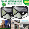 100 LED Solar Powered PIR Motion Sensor Wall Light Outdoor Lamp Garden Path 2020