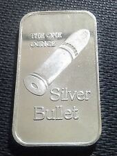 American Pacific Mint Early Plain Back Silver Bullet 1oz .999 Bar - Mint Sealed
