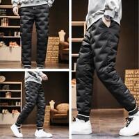 Herrenmode Komfort Sporthose Daunenhose Schnee 90% Daune Elastische Taille Hose