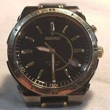 Seiko Kinetic 5M62-0BJ0 Power Reserve Indicator Wristwatch New Capacitor