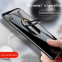 Creative USB Cigarette Lighter Mobile Phone Bracket Lighter Multi-Function