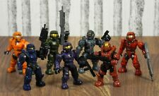 Halo Mega Bloks Lot Of 7 UNSC Spartans w/ Weapons | Mattel Toys | Minifigures