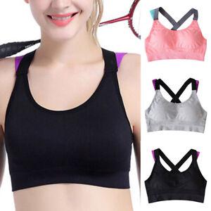Neu Damen Push Up Sports Bustier Sommer Yoga Gym Ohne Bügel Bra Top Unterwäsche
