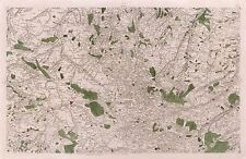 MAP CASSINI FRANCE 18TH CENTURY LOWER NORMANDY REPLICA POSTER PRINT PAM0786