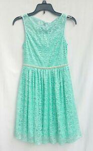 Speechless Kids Dress Knit Sleeveless Teal Turquoise A-Line Girls Size 10