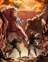 Attack On Titan Poster AOT Promotional Print Eren Vs Reiner Round 2 Season 3