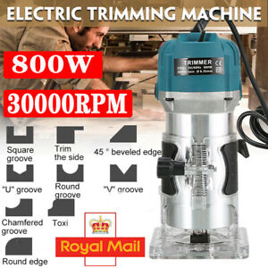 Electric Hand Trimmer Palm Router Jointer Woodworking Laminate Wood Laminator UK