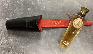 Vintage SHALIMAR Guerlain  PARIS France Perfume w Marked Travel Case 1/4 Fl Oz