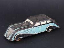 AUTOMOBILE AERODYNAMIQUE ART DECO BOITE A BISCUITS OBJET PUBLICITAIRE 1930