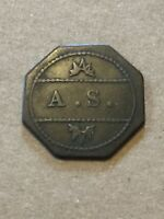 Token Coin Octagon A.S. Old Coin Vintage T2