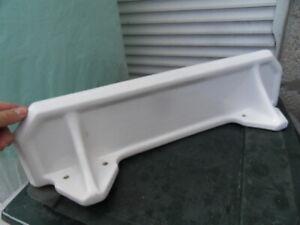 ancienne tablette étagère salle de bain en porcelaine blanche art deco 50.60's