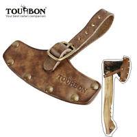 TOURBON Leather Axe Sheath Holder Blade Protection Hatchet Head Cover Adjustable