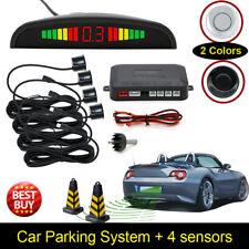 Silber4 Parksensoren LED-Anzeige Auto Auto Backup Rückfahrradar System Alarm Kit