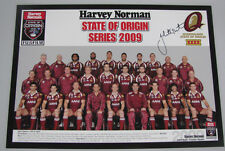 JOHNATHAN THURSTON Hand Signed 2011 Qld Team Poster  11'x14'