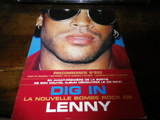 LENNY KRAVITZ - Plan média / Press kit !!! DIG IN !!!