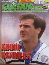 GUERIN SPORTIVO=N°36 (760) 1989 anno LXXVII=ADDIO BANDIERA GAETANO SCIREA