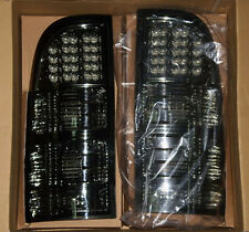 Pair TOYOTA Hilux MK6 2005-2015 Smoked Black Rear Brake Lamp LED Tail Lights Ute