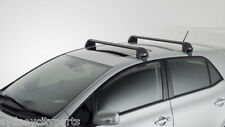 TOYOTA COROLLA ROOF RACKS 2 BAR AERO SET ZRE152 HATCH 2007-2012 NEW GENUINE
