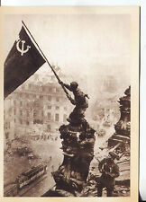 POST CARD OF THE RUSSIAN TROOPS IN BERLIN AT THE END OF WORLD WAR II MAY 1945