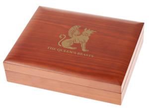 Queen's Beasts Münzbox für Gold & Silbermünzen für 1/4 Oz, 1 Oz, 2 Oz