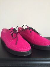 LADIES SIZE 4 Shoes Girls Pink Fuschia Faux Suede Rock And Roll Jive Creepers
