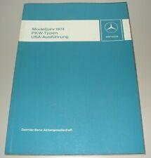 Werkstatthandbuch Mercedes /8 W 114 280 280 C W 116 450 SEL R 107 SL SLC 09/1973