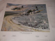 D-DAY - BY AIR BY LAND BY SEA PRINT  FROM ORIGINAL PAINTING BY BRIAN SANDERS
