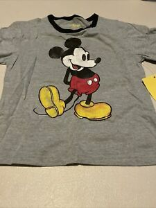 Disney Nostalgia Mickey Mouse Youth Boys T Shirt Tee XS 4/5