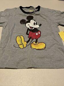 Disney Nostalgia Mickey Mouse Youth Boys T Shirt Tee XS 4/5