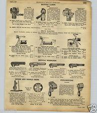 1922 PAPER AD Bicycle Lamps Lights Solar Brand Searchlight Twentieth Century