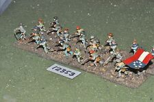 25mm ACW / confederate - american civil war infantry 24 figures - inf (12353)