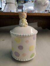 Hushabye Babies Ceramic 2003 Demdaco Nursery Jar Keepsake Holder