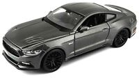 Maisto 2015 Ford Mustang GT 5.0 1:24 Diecast Model Car GRAY 31508 New in Box