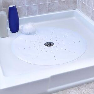 "No Slip Round Shower Mat with Suction Cups: 23"" Diameter Round Shower Mat"