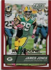 2016 SCORE JUMBO RED ZONE PARALLEL #121 JAMES JONES 15/35