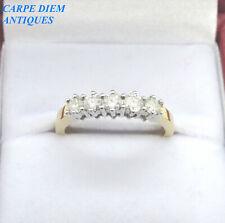 PRETTY 0.50CT FIVE STONE DIAMOND 18K YELLOW GOLD RING. UK SIZE N & U.S 6 1/2