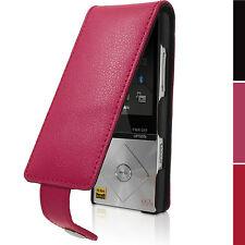 Pink Leder Flip Tasche Schutzhülle für Sony Walkman NWZ-A15 A17 Etui Case Cover