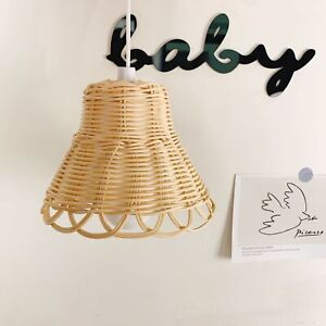 Light Shades Ceiling Pendant Table Wood Rattan Macrame Lampshade Nursery Decor