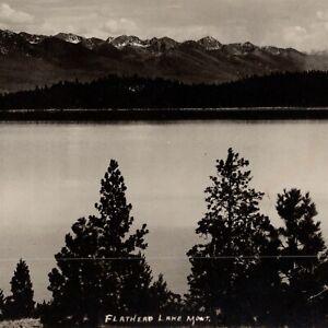 Flathead Lake Montana 1915 Herman Schnitzmeyer Vintage Panorama Photograph